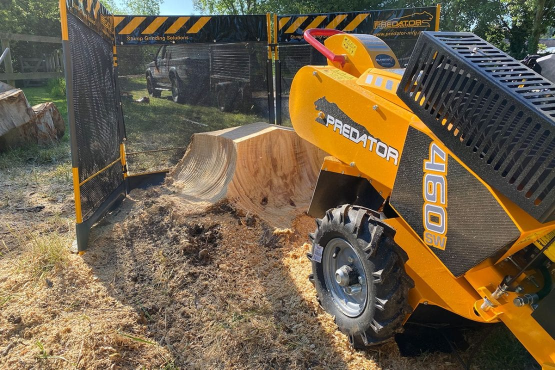 stump grinding with a predator 450