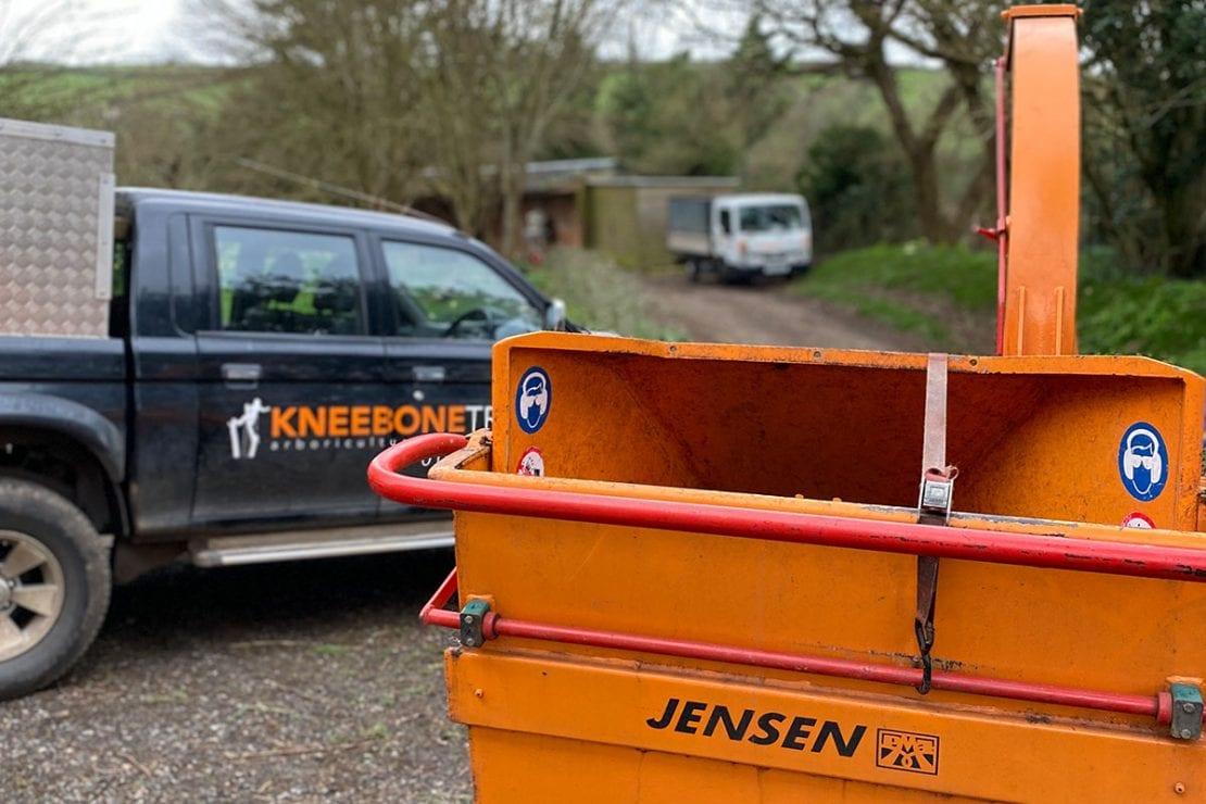 Jensen wood chipper used by Kneebone Trees